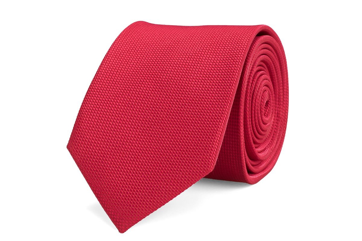 stropdas zijde nos 7 rood