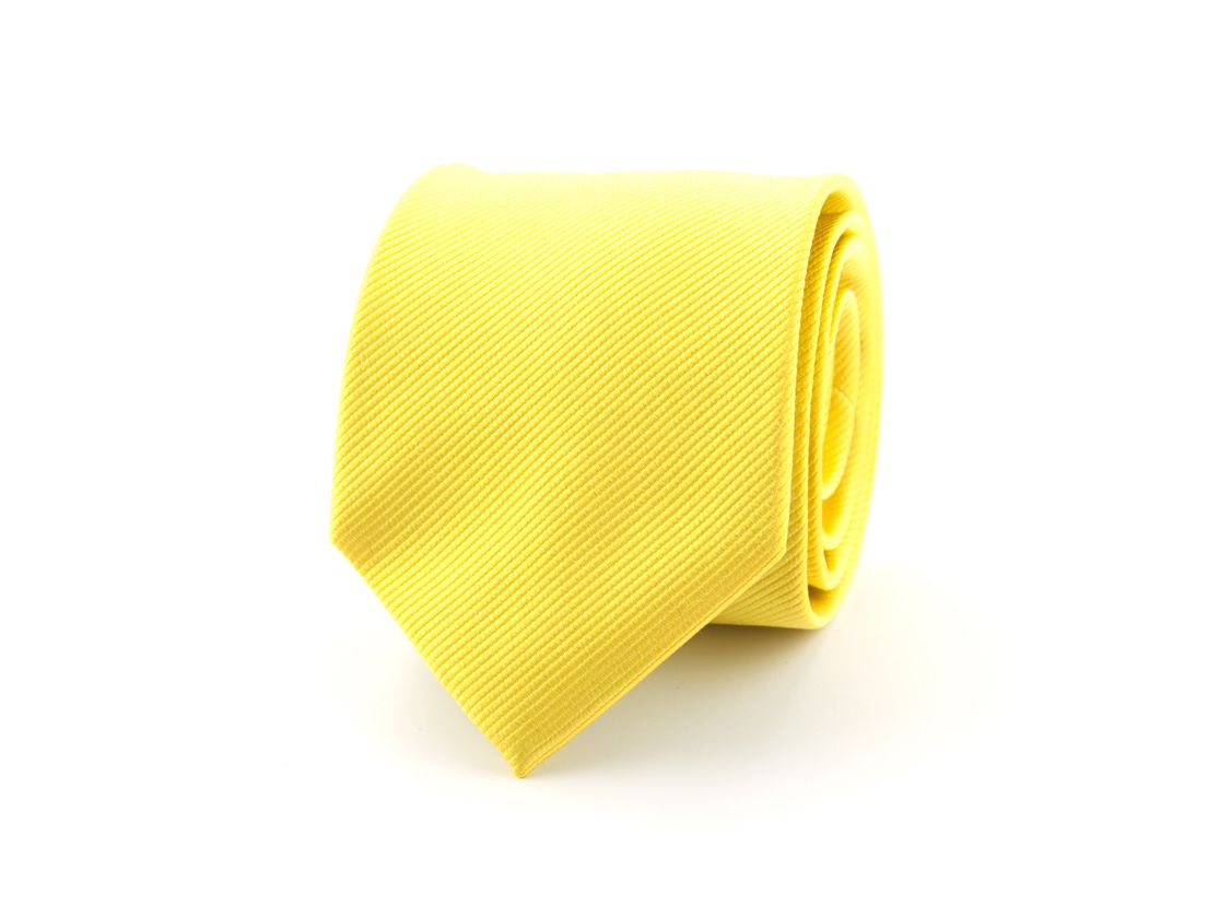 stropdas zijde nos 70 geel