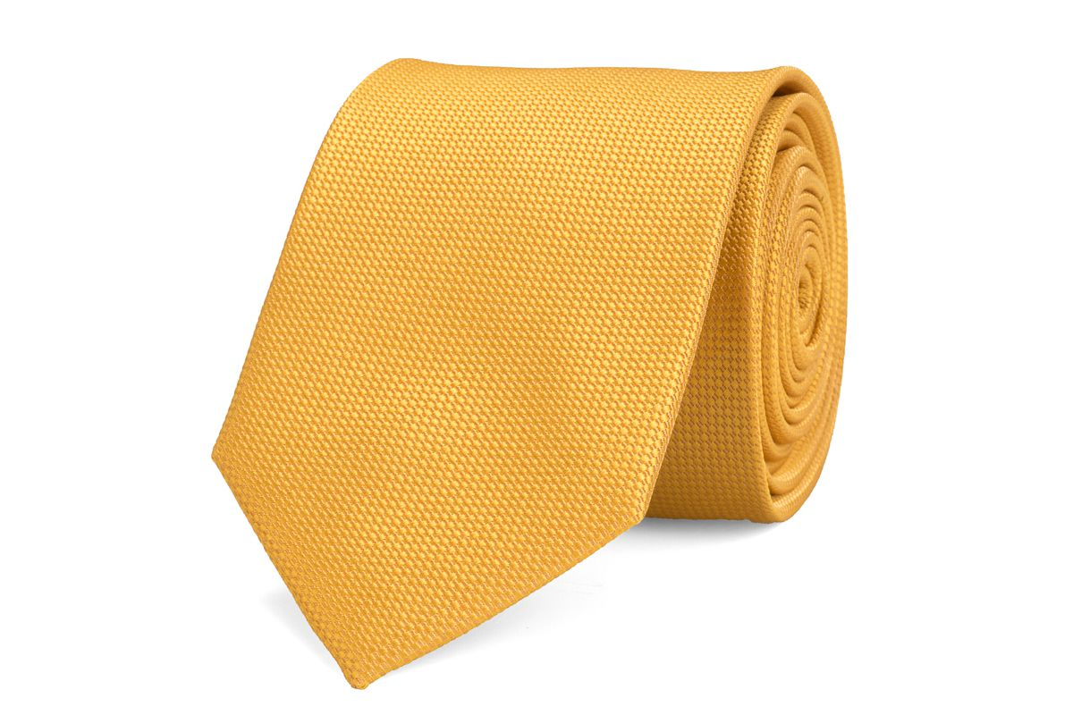 stropdas zijde nos 8 goudgeel