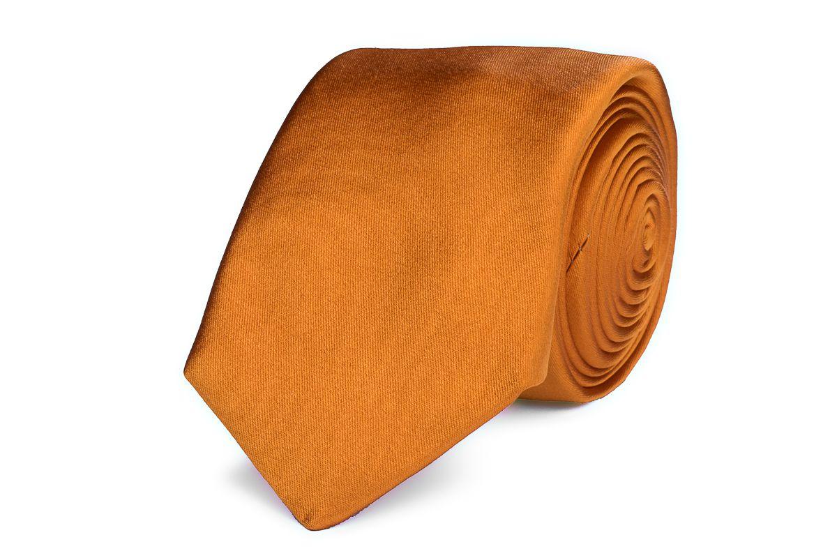 stropdas zijdesatijn progetto nos 13 oranje