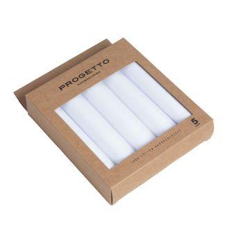 Zakdoeken katoen Progetto Assortiment - wit