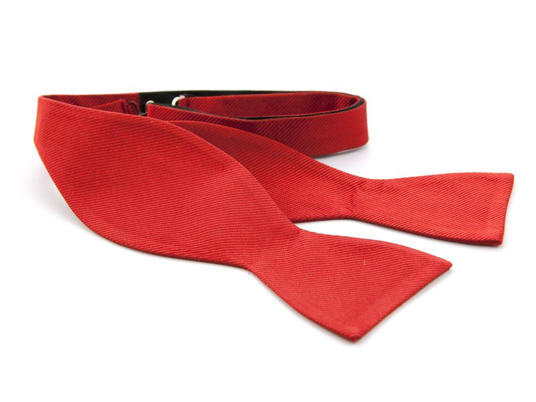 zelfstrikker zijde 34 rood